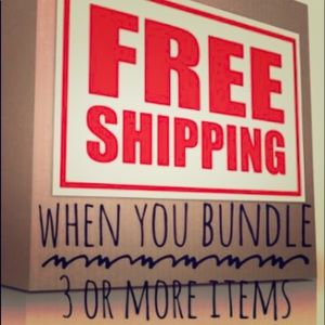 Other - Free shipping and 20 % off for bundle of 3 or more